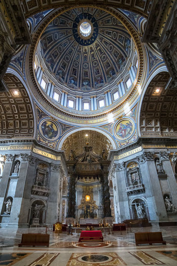 Architecture Built Structure Day Dome Illuminated Indoors  Low Angle View No People Place Of Worship Religion Spirituality Travel Destinations