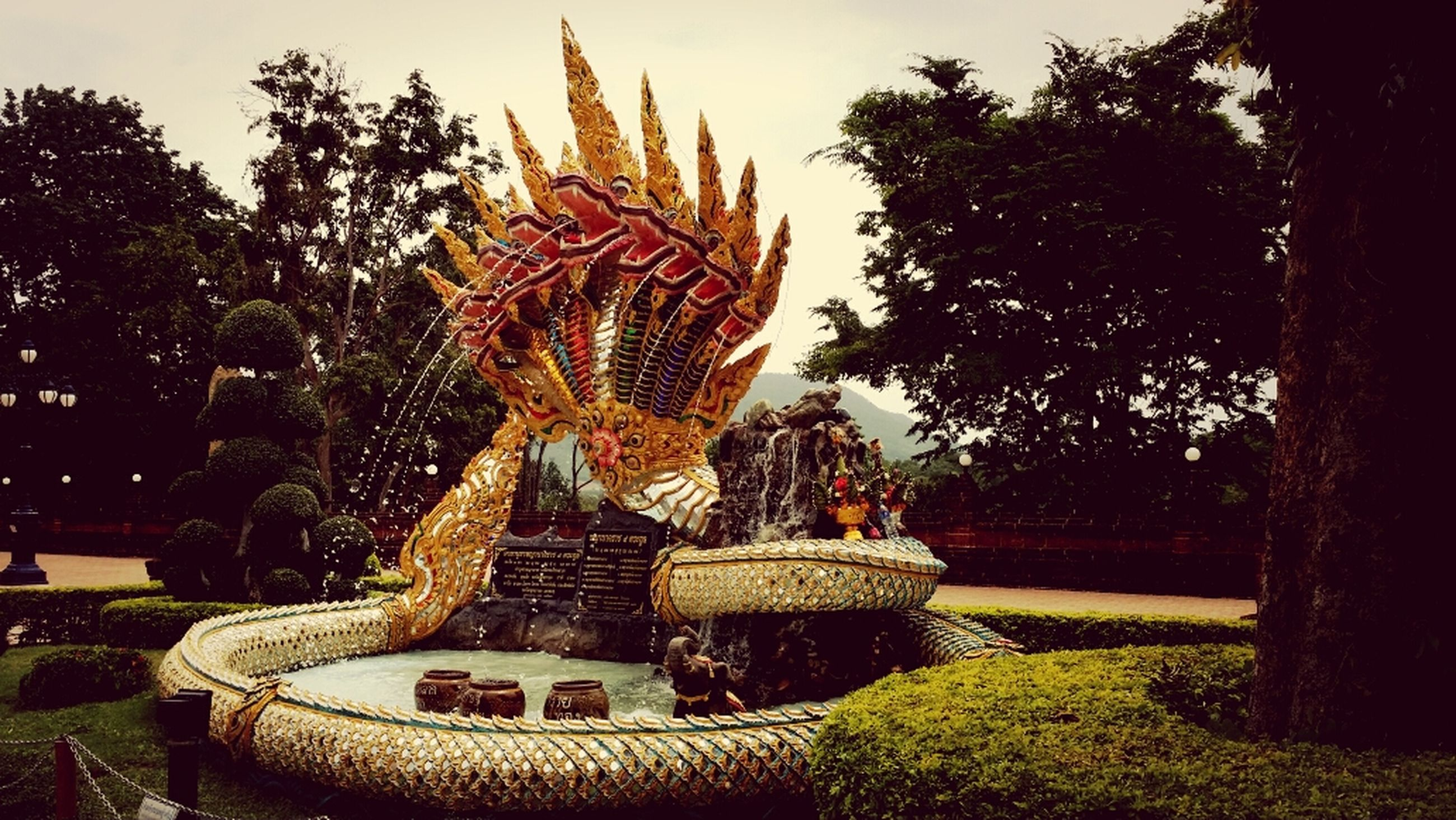 art and craft, sculpture, statue, art, human representation, creativity, tree, religion, animal representation, buddha, carving - craft product, temple - building, craft, spirituality, gold colored, park - man made space, temple