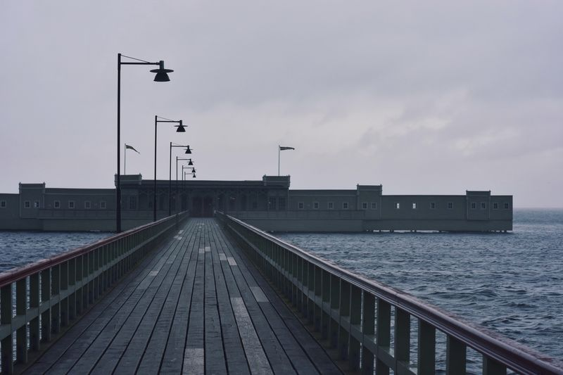 Take a bath 🌊 Sea Ocean Pier Promenade Calm Dramatic Rippled The Way Forward Diminishing Perspective Malmö Kallbadhuset Autumn Melancholy Autumn Collection Path Seascape