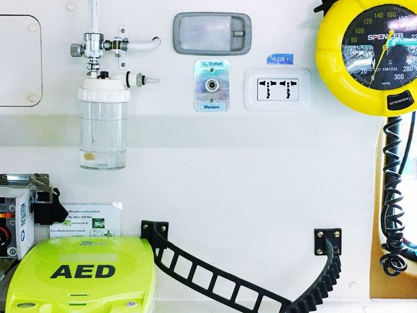 Indoors  No People Gauge Close-up Technology Pressure Gauge Day Emergency AED Ambulance Healthcare And Medicine Help Save Life