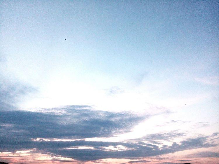 небо облака закат🌇 Природа