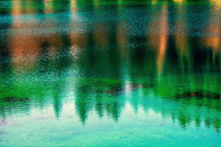 Full frame shot of wet lake