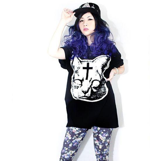 Stylelazy Street Fashion That's Me Ivory Jar meow face tee by ivoryjar