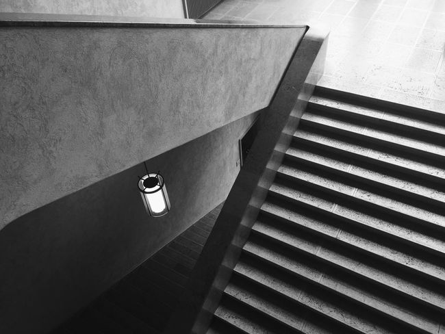IPhoneography Mobilephotography Steps And Staircases High Angle View Steps Staircase Built Structure Indoors  No People Architecture Day Hand Rail Kunstmuseum Detail Summer Exploratorium