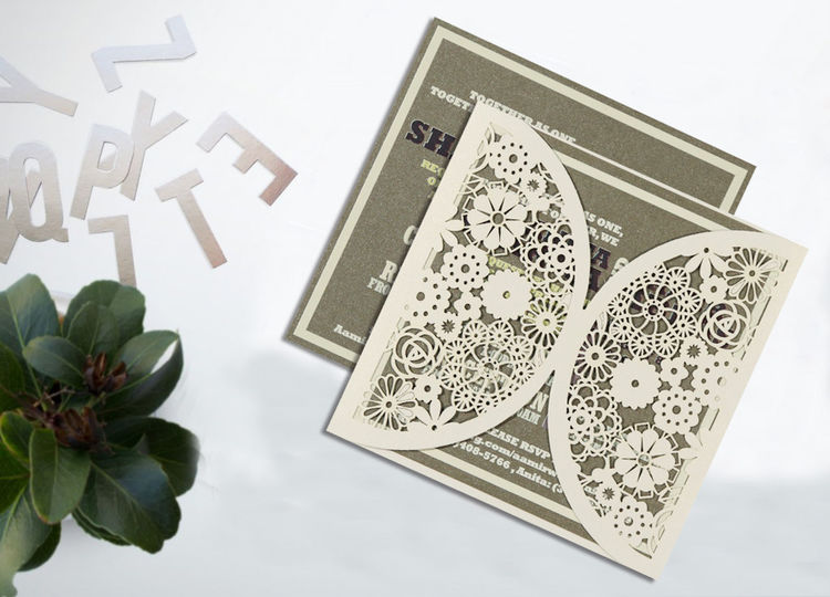 Leave a sparkling first impression on your wedding guests by choosing these exuberantly glamorous Designer Wedding Cards for your wedding. Give your wedding a special feel with our exclusive White/Offwhite/Cream/Ivory, Shimmer Paper, Designer Wedding Cards - D-1594 available here @ https://www.123weddingcards.com/card-detail/D-1594 Laser Cut Cards Laser Cut Wedding Invitations Laser Cut Invitations Cheap Laser Cut Wedding Invitations Laser Wedding Invitations Wedding Invitations Laser Cut