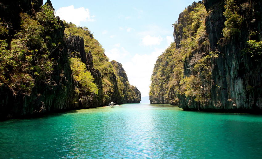 Bacuit Bay Big Lagoon El Nido, Palawan Philippines Landscape Paradise Sea Tranquil Scene Tropical Climate Turquoise Water