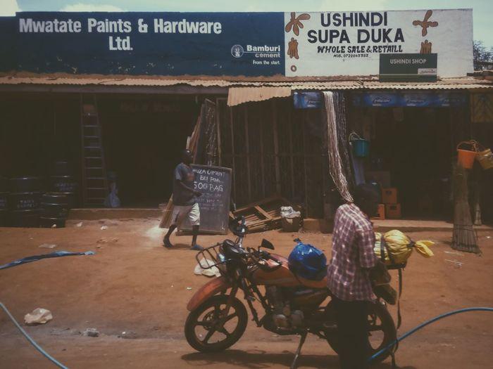 Mwatate, Kenya. Bicycle Transportation Outdoors Streetphotography Street Life City Life Cityscape Adventure EyeEm Best Shots VSCO EyeEm Best Edits Africa Kenya Travel Destinations Travel Architecture