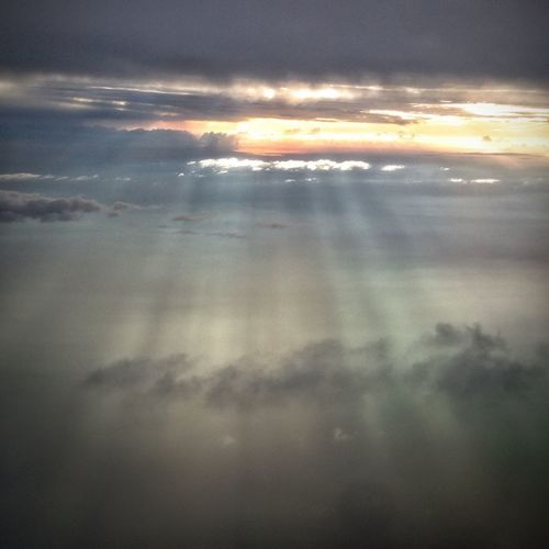 The raylight From An Airplane Window Travelling EyeEm Best Shots Clouds