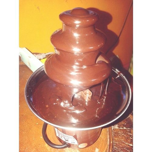 Happinessssss ❤ ❤ Chocolate Fountain YumYum