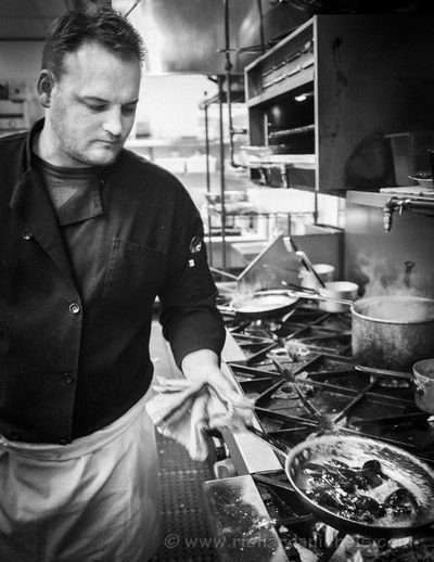 Cooking mussels (moules) in a restaurant. Black & White Black And White Blackandwhite French Cooking Food Restaurant Mussels Moules Pleasure