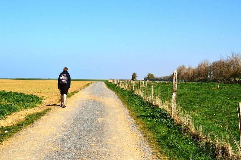 Agriculture Rural Scene Clear Sky The Way Forward Day Nature Outdoors Randonnée My Boyfriend ❤ Together Explore Campagne Nature Normandie, France Normandie Landscape Sky Beauty In Nature Tranquility Green Color Saint Valery En Caux
