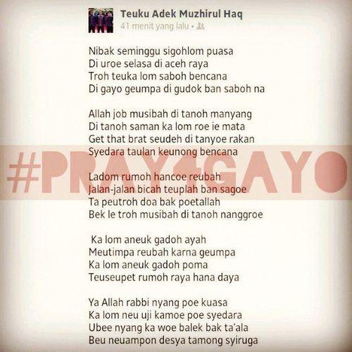 Pray4gayo Aceh PantonAceh