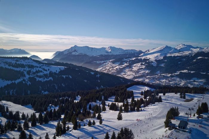 French Alps Haute-Savoie  Les Gets Snow Cold Temperature Mountain Winter Nature Mountain Range Scenics Snowcapped Mountain Tranquility Beauty In Nature Outdoors Sky Tranquil Scene Day