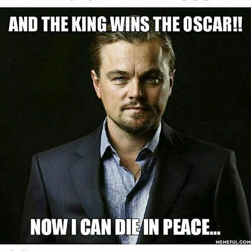 Thank you Leo Oscar 2016 Best Actor Ever Leonardodicaprio  Revenant
