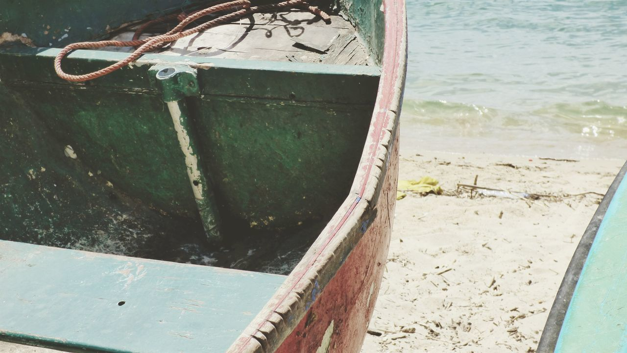 no people, nautical vessel, day, rusty, water, outdoors, moored, close-up, nature