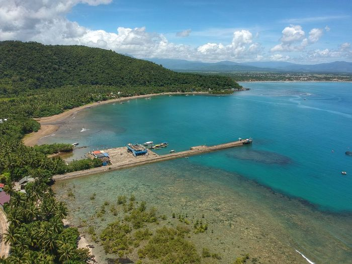Mountains, Mangroves and the Port Fish Port Dji Spark Dji Aerial View Aerial Baler Water Sea Scenics - Nature Beach Cloud - Sky Land Nature Beauty In Nature Sky High Angle View No People Tree Outdoors Day First Eyeem Photo