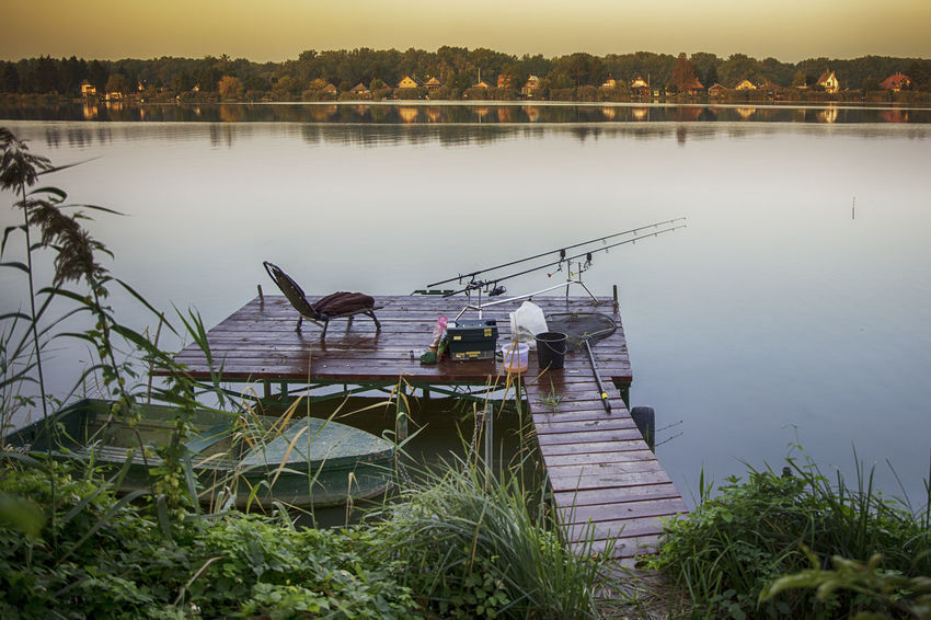Fishing Best EyeEm Shot Danube Hungary WeekOnEyeEm Architecture Beauty In Nature Built Structure Day Fishing Lake Mode Of Transportation Nature Nautical Vessel No People Oroszphotography Outdoors Plant Rackeve Reflection Scenics - Nature Tranquil Scene Tranquility Transportation Tree Water