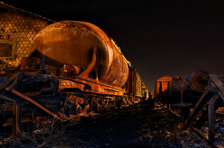 Centenary train Train HUAWEI Photo Award: After Dark Astronomy Illuminated Fireball Long Exposure Sky