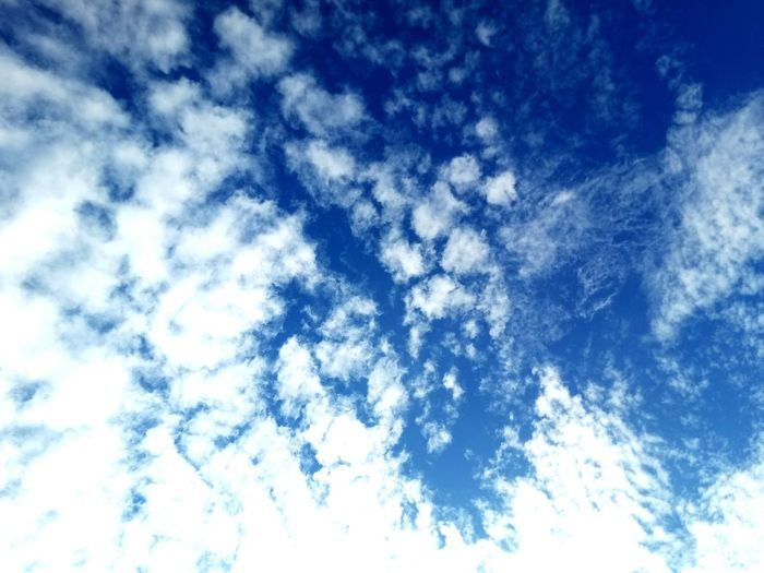 ☁☁☁ Blue Low Angle View Backgrounds Full Frame Sky Cloud - Sky No People Day Nature Tranquility Beauty In Nature Outdoors Scenics Close-up
