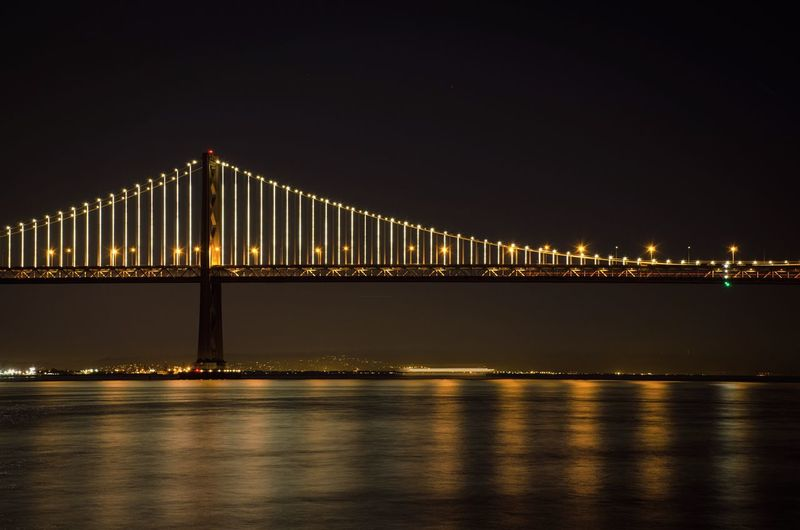 Saying goodbye to the bay bridge lights until 2016. San Francisco Urban Nature Light And Shadow Architecture Bridge Water Reflections