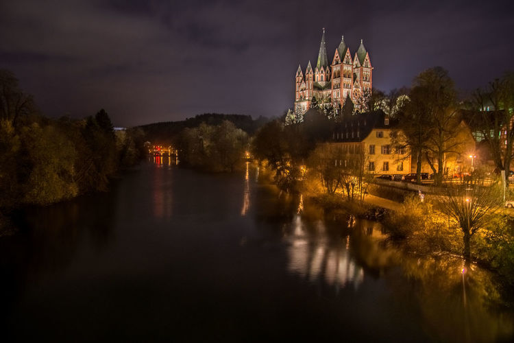 Limburg An Der Lahn Limburger Dom Nachtfotografie Architecture Building Exterior Built Structure History Illuminated Nature Night No People Outdoors Place Of Worship Religion Sky Spirituality Travel Destinations Water