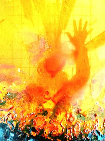 Multi Colored Abstract Backgrounds Yellow Close-up Astrato Mirror Effect Siluette Water Long Goodbye