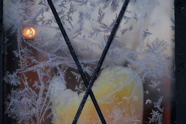 Candle Frozen Close-up Day Indoors  No People Winter