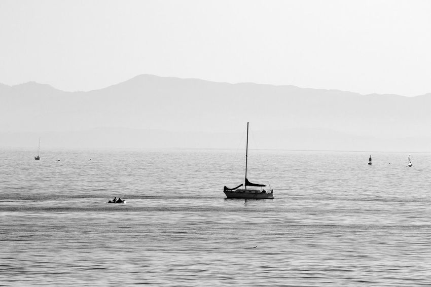 Boats Open Edit Landscape Water Ocean Blackandwhite Silhouette Canon Going Sailing The Great Outdoors - 2015 EyeEm Awards Black And White Friday