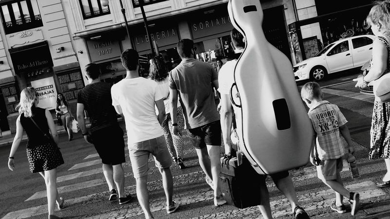 Blackandwhite Photography Urban Photography Musician Musical Instruments Street Life The Street Photographer - 2015 EyeEm Awards