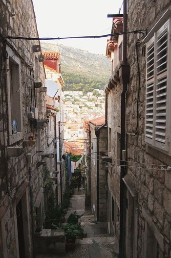 Architecture Building ExteriorCroatia Dubrovnik Built Structure Balcony Steps Down Stairs_steps Outdoors AlleyThe Week On EyeEm Day City No People Sky Cityscape EyeEmNewHere