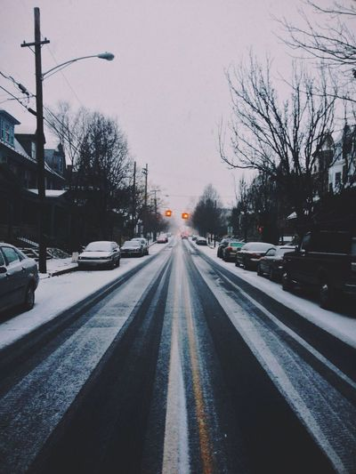 Street Snow Fltrlive Winter White By CanvasPop