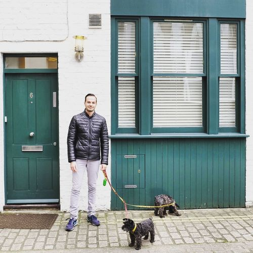 Full Length One Man Only One Person Adults Only Only Men Front View Standing Adult Military People Day Outdoors Working Camouflage Clothing Dogs Schnauzer Minischnauzer London Lifestyle Architecture Building Exterior Old-fashioned Minisc