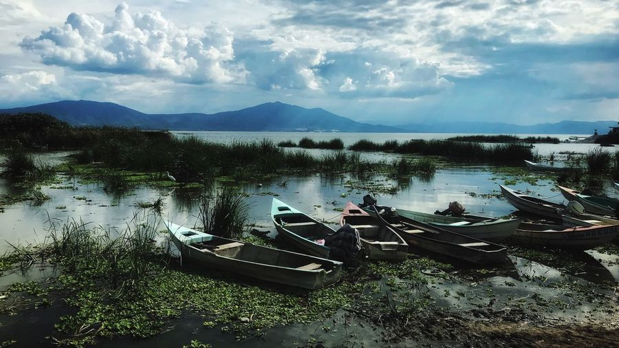 Visitajalisco Chapala Jalisco Water Nautical Vessel Sky Mode Of Transportation Transportation Cloud - Sky Nature Beauty In Nature Tranquility No People Plant Lake