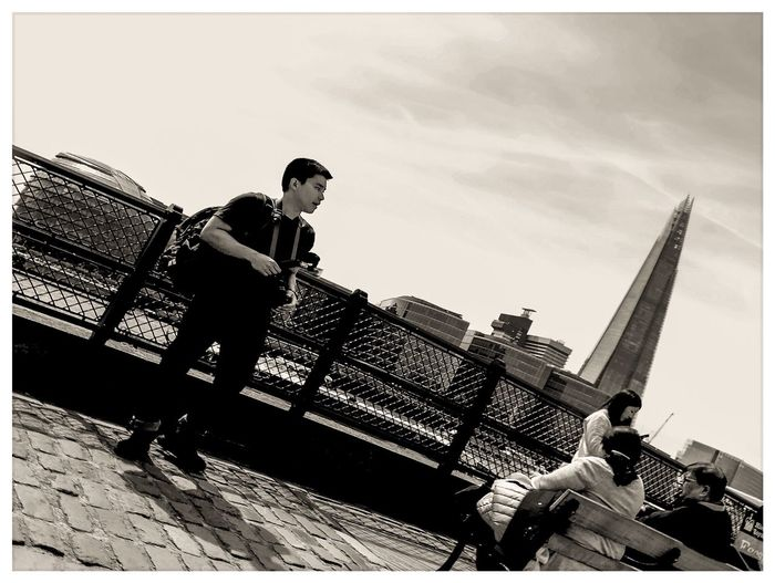 Leaning Tower of London Streetphotography Travel Destinations Travel Photography Travel Black And White Bnw P20 Pro Huaweiphotography Phoneography Mobile Photography London England Uk United Kingdom Sky Architecture Built Structure Transfer Print Building Exterior Low Angle View Real People Day Outdoors Men Building Tall - High City Skyscraper