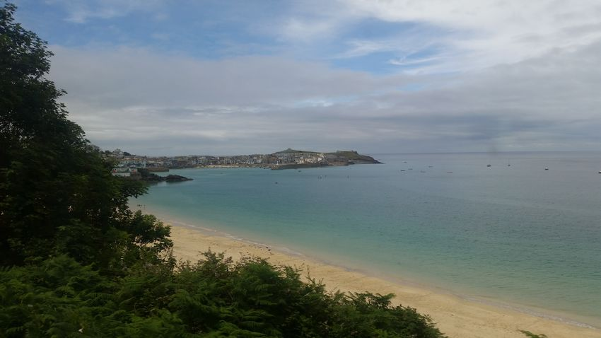 Saint Ives Cornwall Beach Sea Horizon Over Water Sand Landscape Tranquility Water Tranquil Scene Nature Vacations Summer Day Beauty In Nature Outdoors Travel Destinations Scenics Sky Adventure Sunlight Horizon View St Ives