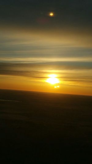 From An Airplane Window Sunset EyeEm Best Shots - Sunsets + Sunrise Airplaneview Sky High Beautiful Moon Moonandsun Amazing View The Great Outdoors - 2017 EyeEm Awards TheViewFromUpHere