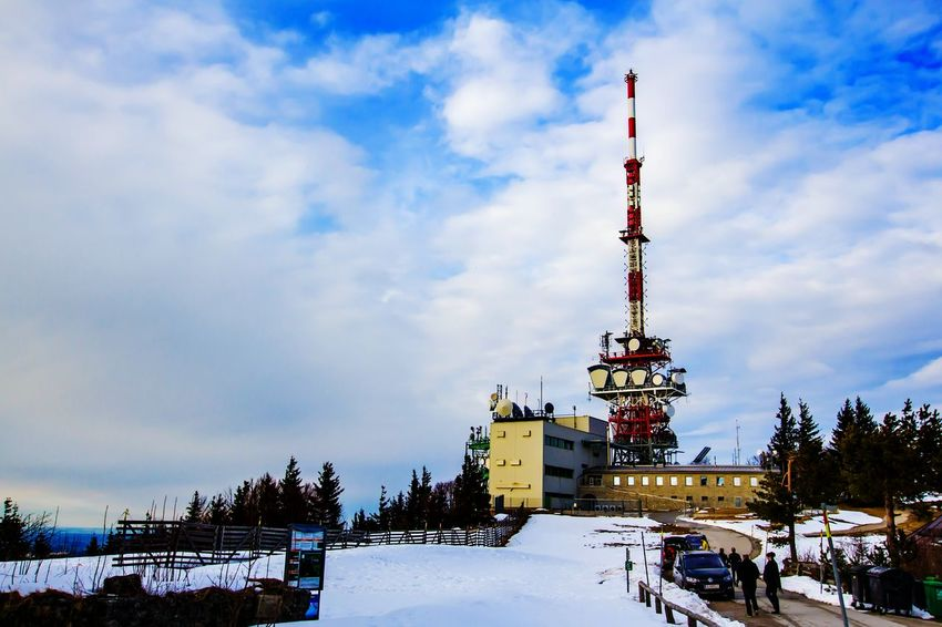 Landscapes With WhiteWall Broadcasting Tower