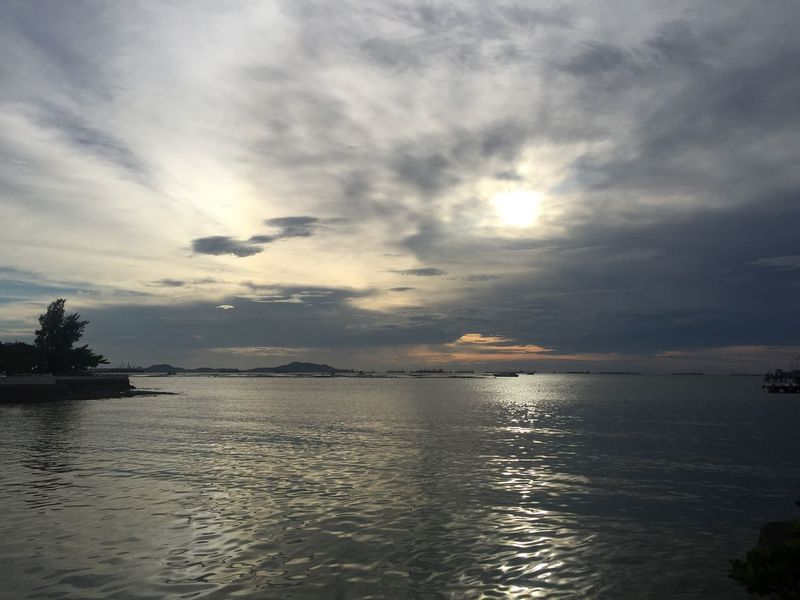 The Purist (no Edit, No Filter) Sunset Sunlight Sky Scenics Water Tranquility Sea Beauty In Nature Tranquil Scene Cloud - Sky Nature No People Idyllic Waterfront Outdoors Horizon Over Water Day