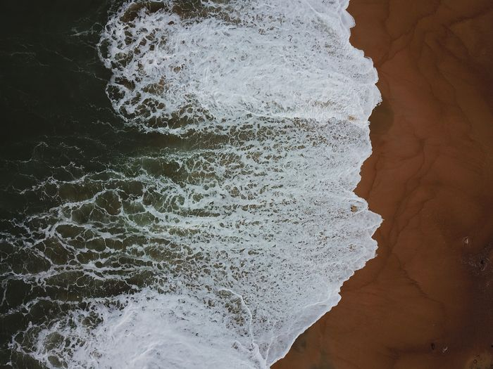 DuaEnamKosongLima Dji Spark DJI X Eyeem High Angle View Beach Abstract Textured  Pattern Nature No People Beauty In Nature Multi Colored Outdoors