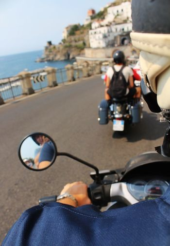 """Tu viaggia, sempre Perché non sai mai, nel riflesso di quale mare ritroverai te stesso Ne puoi sapere, nelle vie di quale città ritroverai la tua strada."" - A. Z. Minori Amalfi Coast Campania Italy Vespa Coast To Coast Picoftheday EyeEmNewHere Photooftheday EyeEm Gallery Motorino Costiera Amalfitana Sea Beach Men Close-up Biker Motorcycle Motorized Vehicle Riding The Still Life Photographer - 2018 EyeEm Awards The Street Photographer - 2018 EyeEm Awards The Great Outdoors - 2018 EyeEm Awards The Traveler - 2018 EyeEm Awards"