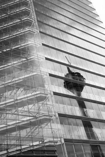 Stadttor, Duesseldorf, Germany Black & White Black And White Blackandwhite Blackandwhite Photography Deutschland Duesseldorf Düsseldorf Geometry Germany Glass Glasscheiben Metal NRW Pattern Reflection Rheinturm  Spiegelung Stadttor Urban Windows The Architect - 2016 EyeEm Awards