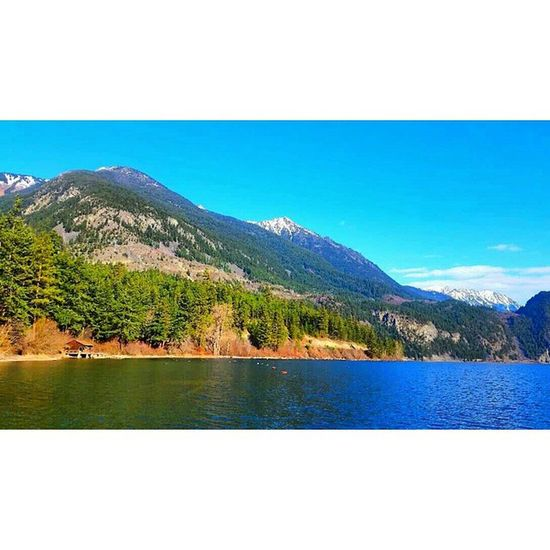 Andersonlake Mountains Trees Darcybc bluesky clouds lake ilovenature thisisthelife getoutside seethecabin