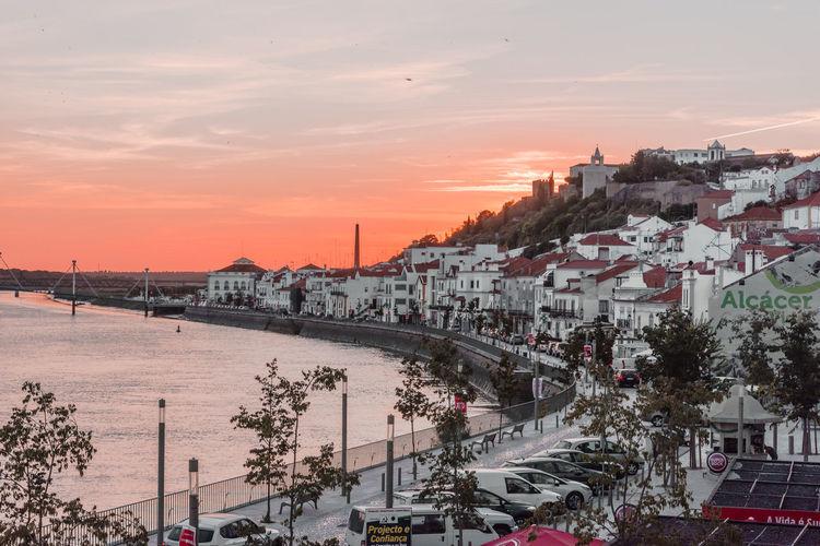 Portugal Rio Alentejo City Cityscape Nature Outdoors River Sado Sky Sunset Travel Destinations