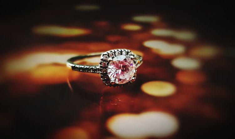 Luxury Diamond Ring Wedding Ring Bokeh Jewelry