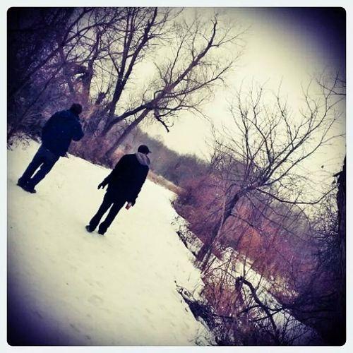 Exploring Woods Winter