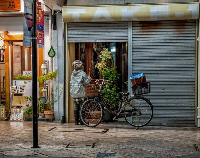 Closing Time Japan Japanese  Japan Photography Street Street Fashion Street Style Streetphotography Fashion Style People Candid Urban City Storefront Bike Xpro2 Fujixpro2 FujifilmXPro2 Xf35mmf2 Fujiusers Cooljapan