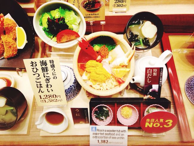 Japanese set Japanese Foods Set Menu Dinner Happy Meal Waiting Want To Eat Happy Meal Yodobayashi Camera OSAKA Japan Evening 8 Floors