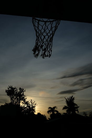 Hoops Silhouette Basketball - Sport Basketball Hoop Outdoors Nature Natural Light Sunrise Sky No People Day