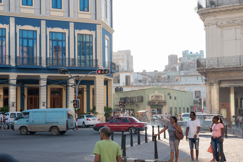Prado, Hotel Telégrafo Adult Adults Only Architecture Building Exterior Built Structure City Cityscape Cuba Cuba Collection Day Land Vehicle Outdoors People Traffic Lights Travel Destinations Travelling Photography Women