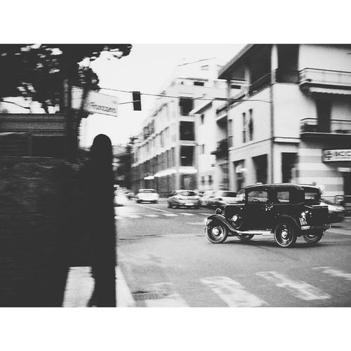 A Moment when I captured an Old Fashioned Car driving by. Nocrop Italy
